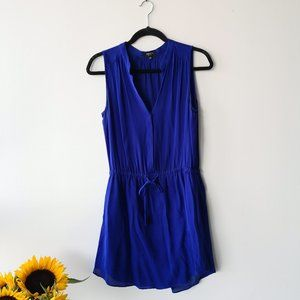 Aritzia Blue Silk Dress, Small